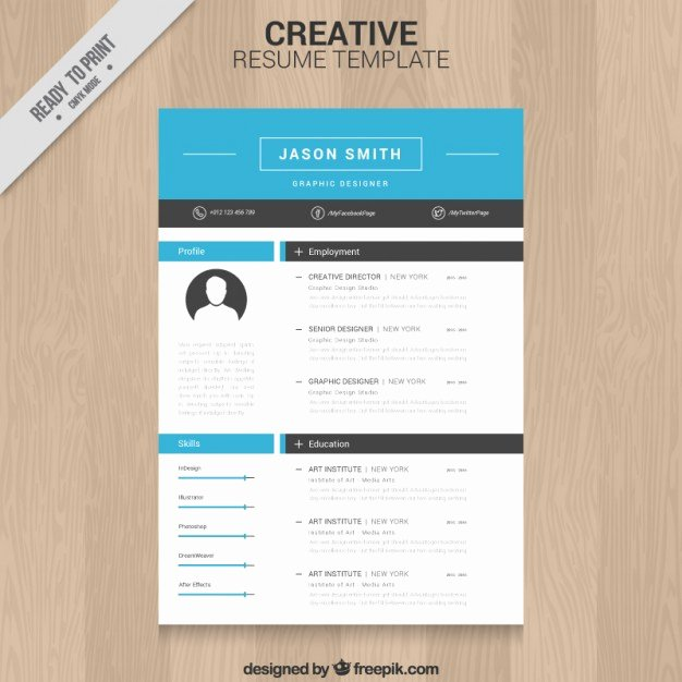 Creative Resume Template Vector
