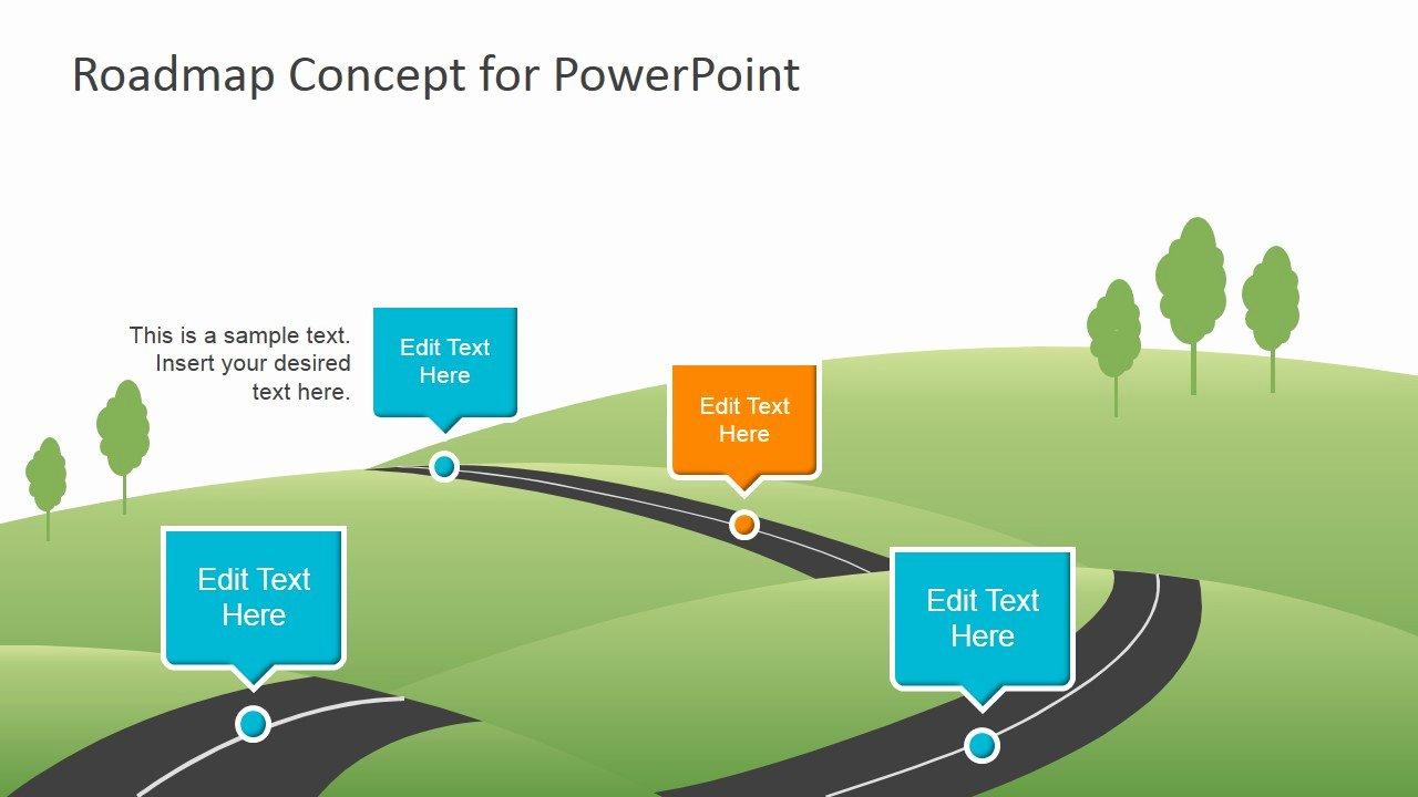 Creative Roadmap Concept Powerpoint Template Slidemodel