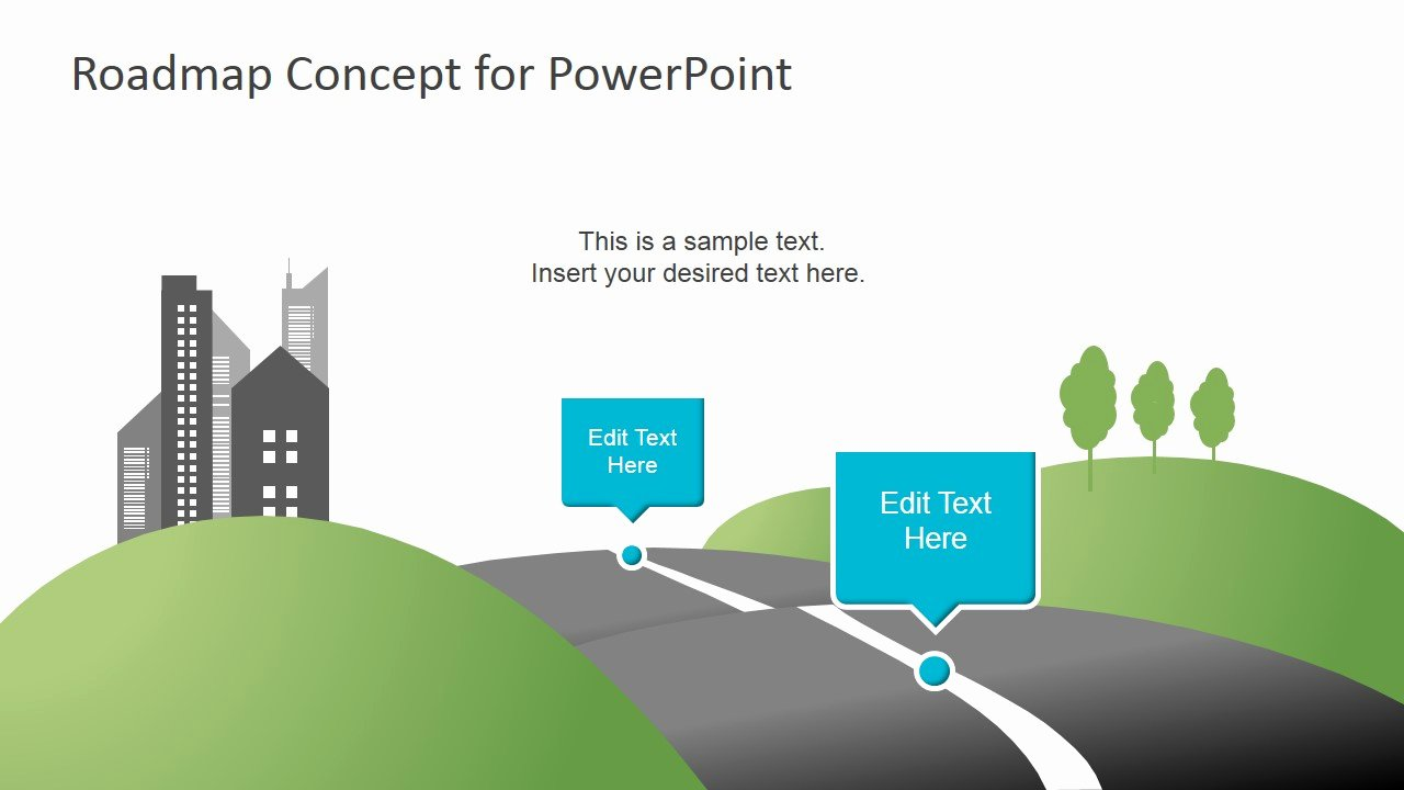 Creative Roadmap Concept Powerpoint Template Slidemodel