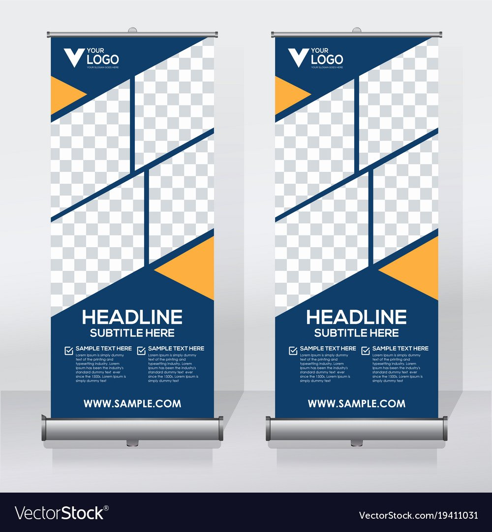 Creative Roll Up Banner Design Template Royalty Free Vector