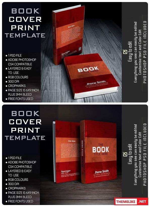 creativemarket book cover template
