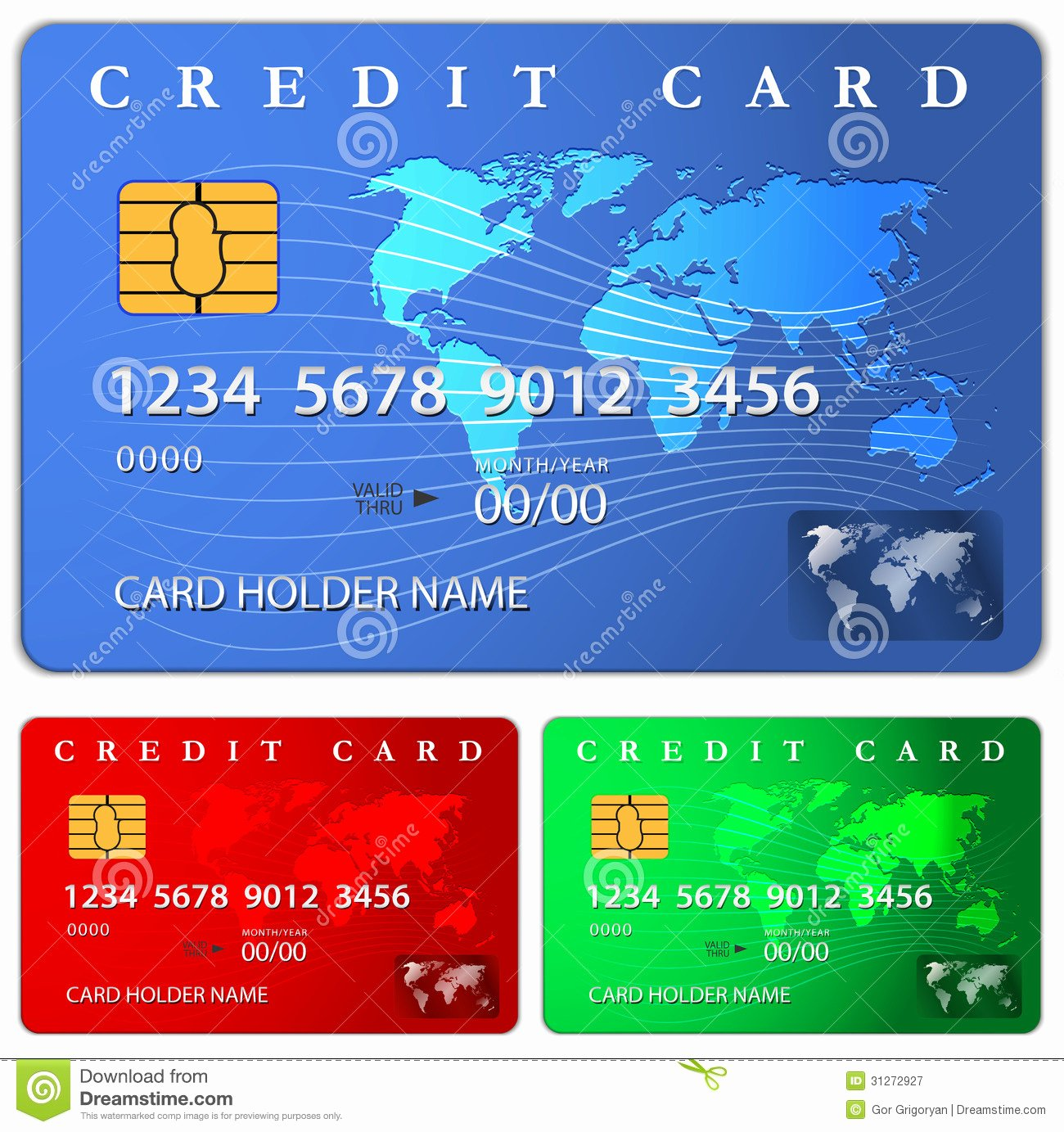 Credit Debit Card Design Template Royalty Free Stock