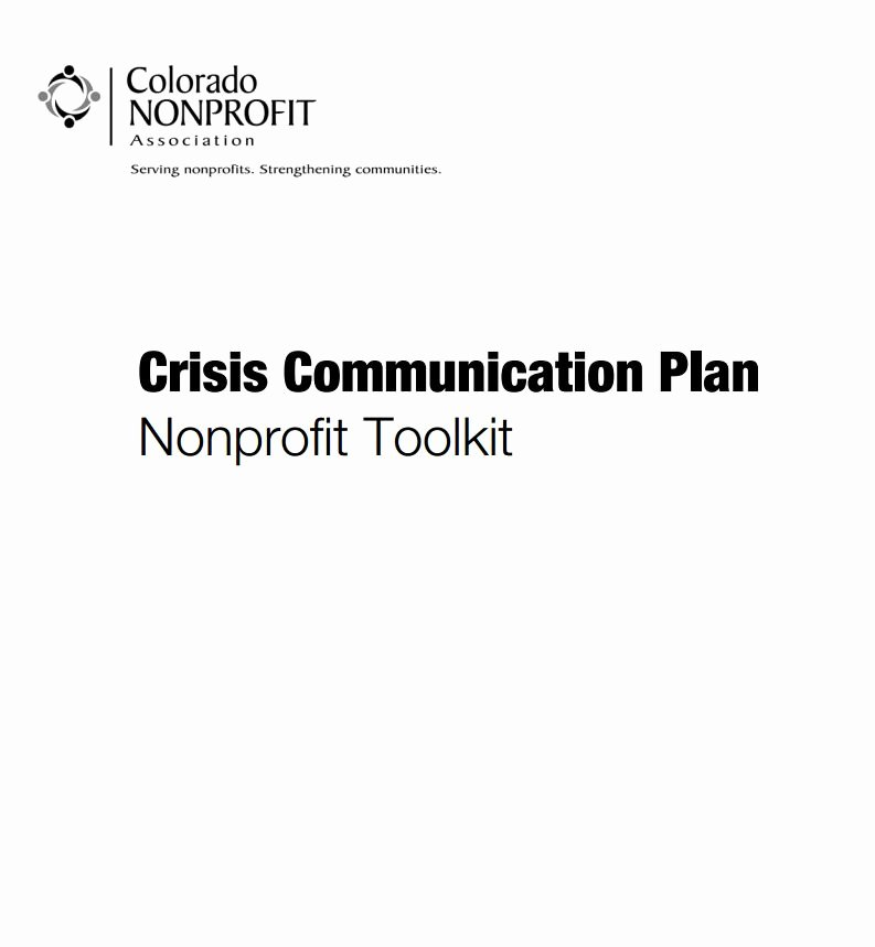 Crisis Munication Plan Nonprofit toolkit