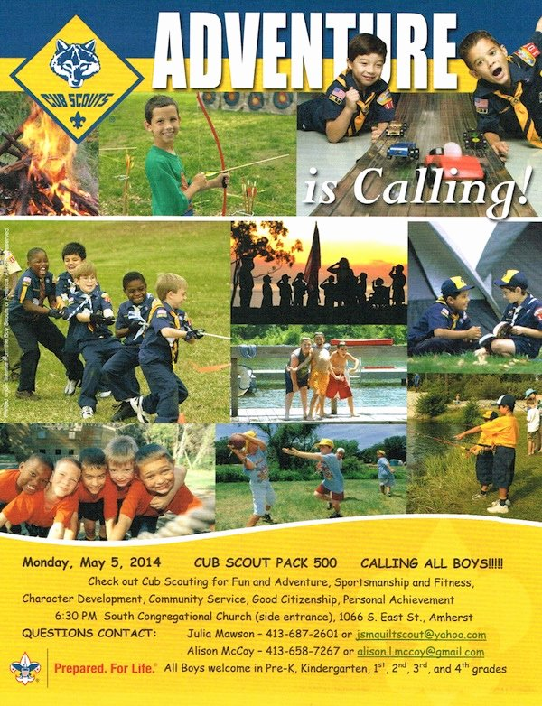 Cub Scout Open House – May 5