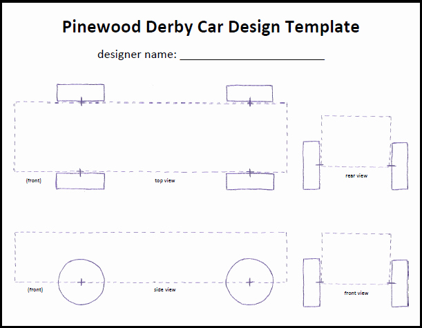 Cub Scout Pinewood Derby Car Tempate