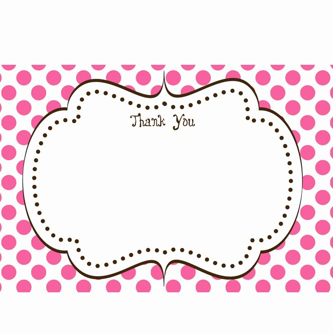Cupcake Printable Thank You Card 4x6