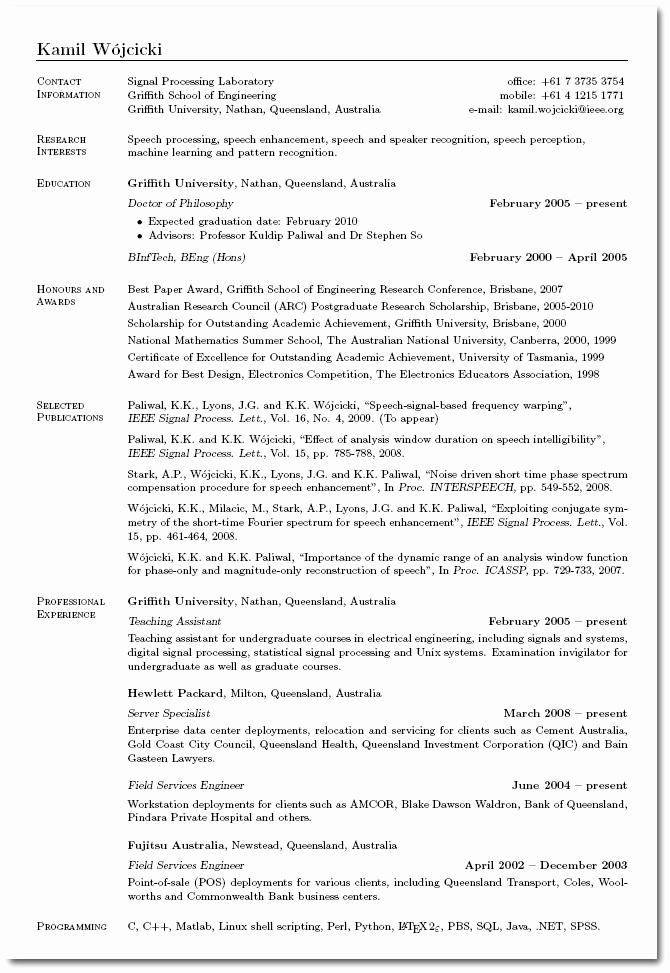 Curriculum Vitae Digital Archivo