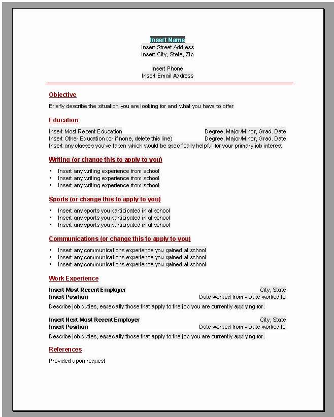 Curriculum Vitae En Word 2010
