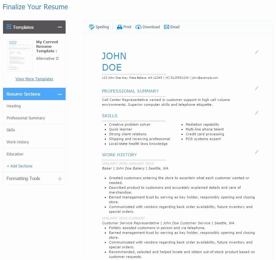 Curriculum Vitae Line Gratis Best Resume Builder App