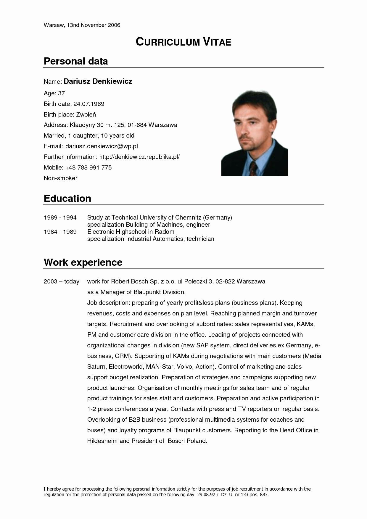 Curriculum Vitae Template Resume Cv