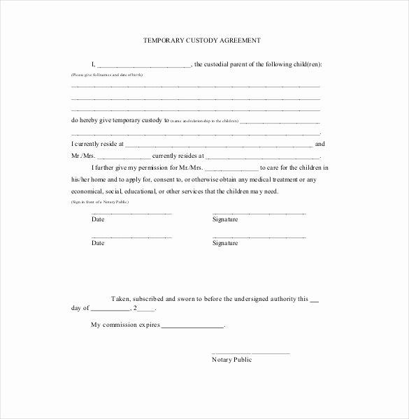 Custody Agreement Template – 10 Free Word Pdf Document