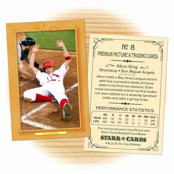 Custom Baseball Cards Vintage 11™ Series Starr Cards
