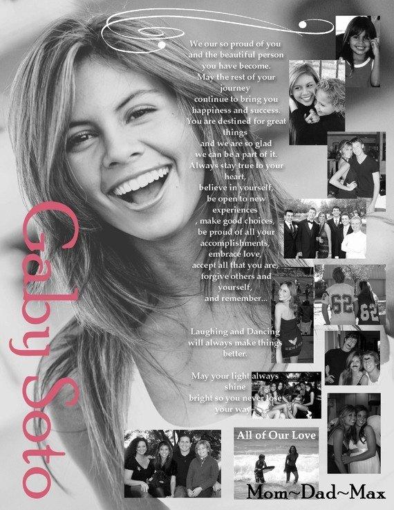 Custom Designed Senior School Yearbook Ad Full Page