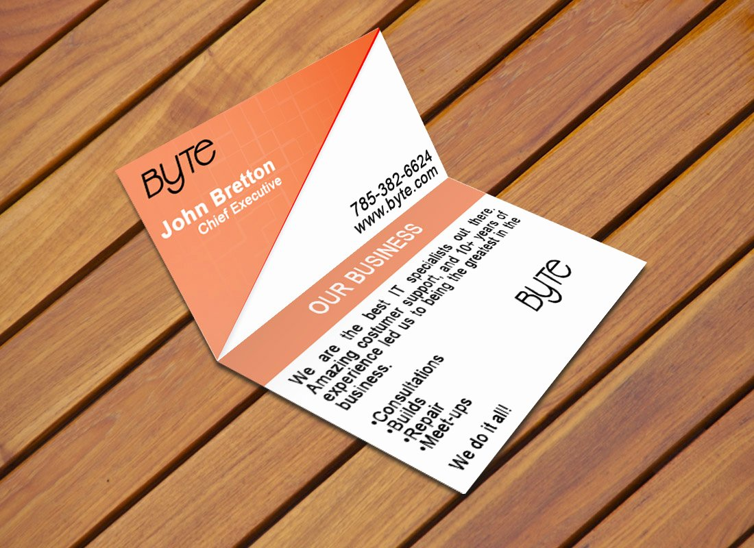 Custom Folded Business Cards Image Collections Business