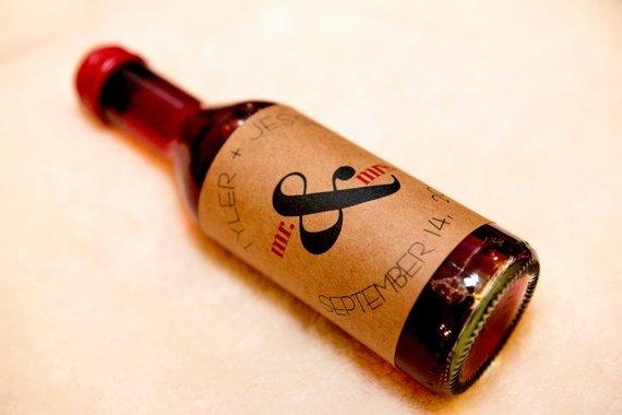 Custom Mini Kraft Wine Bottle Label Qty 1