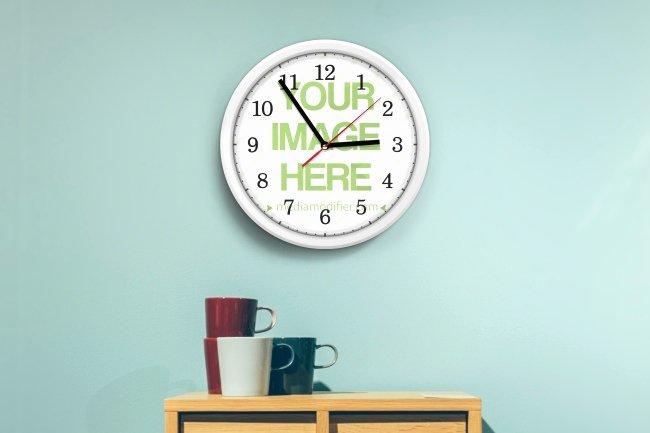 Custom Wall Clock Mockup Generator Mediamodifier Free