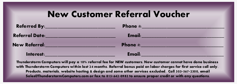 Customer Referral Card Sample to Pin On Pinterest