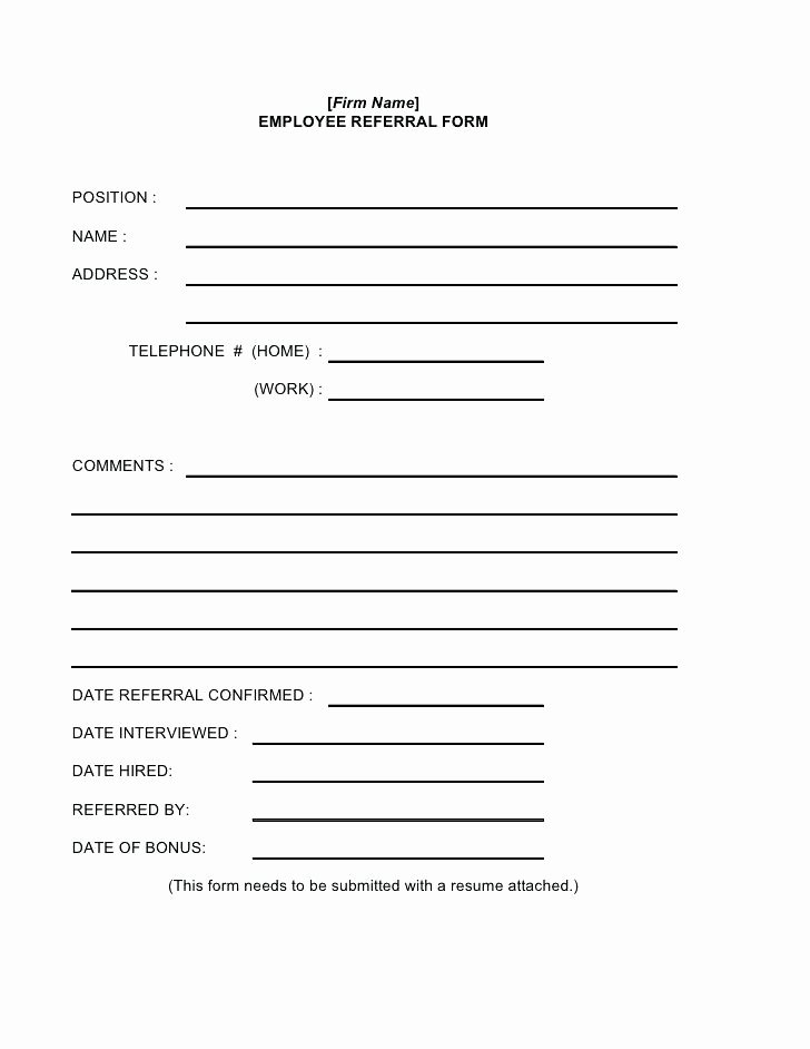 Customer Referral form Template – Reach