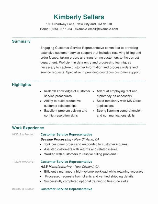 Customer Service Bination Resume Resume Help
