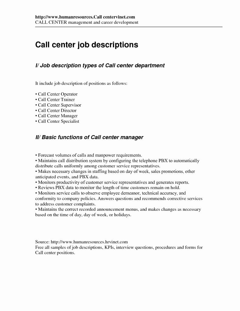 Customer Service Call Center Responsibilities – Perfect