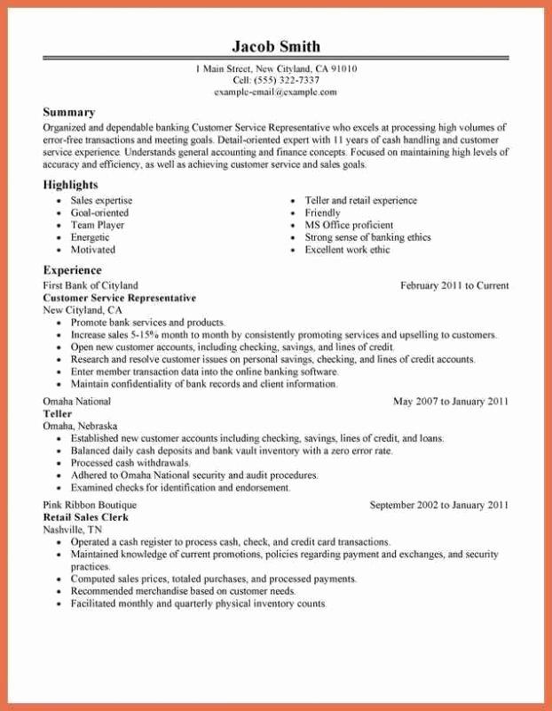 Customer Service Job Description Resume