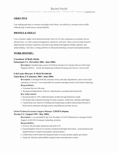 Customer Service Manager Resume Objective