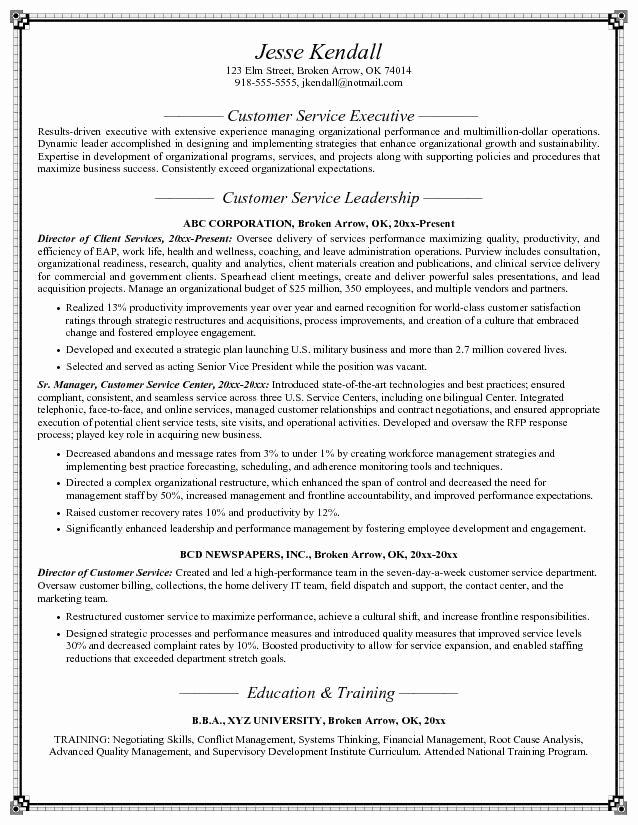 Customer Service Objective Resume Sample