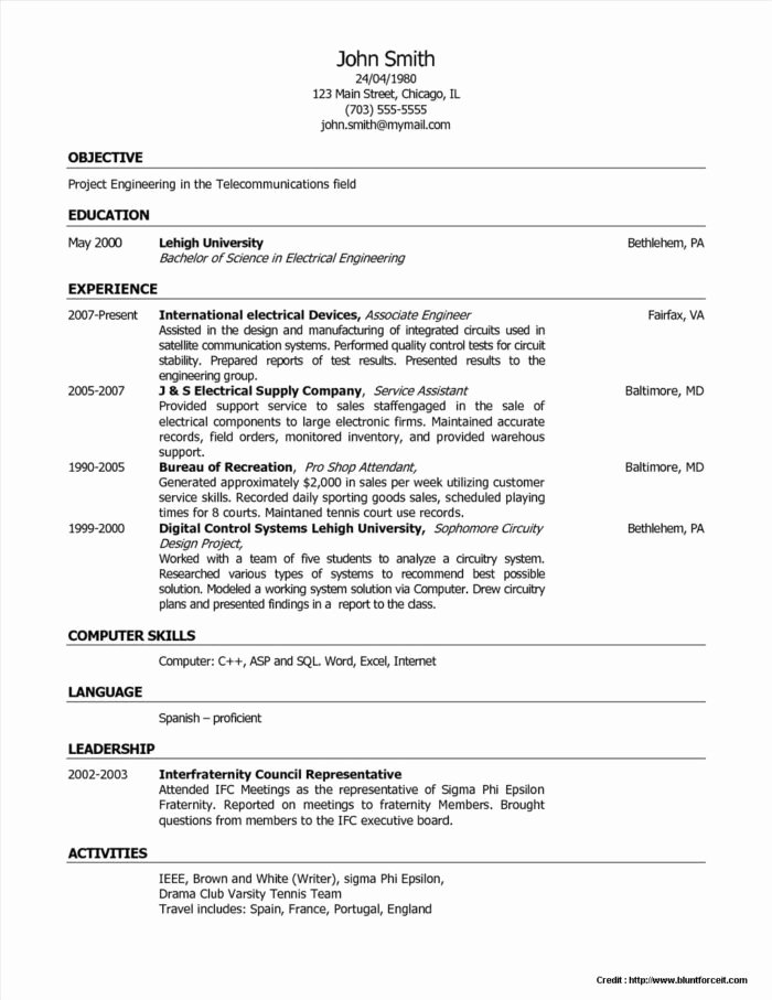 Customer Service Representative Resume Templates Resume