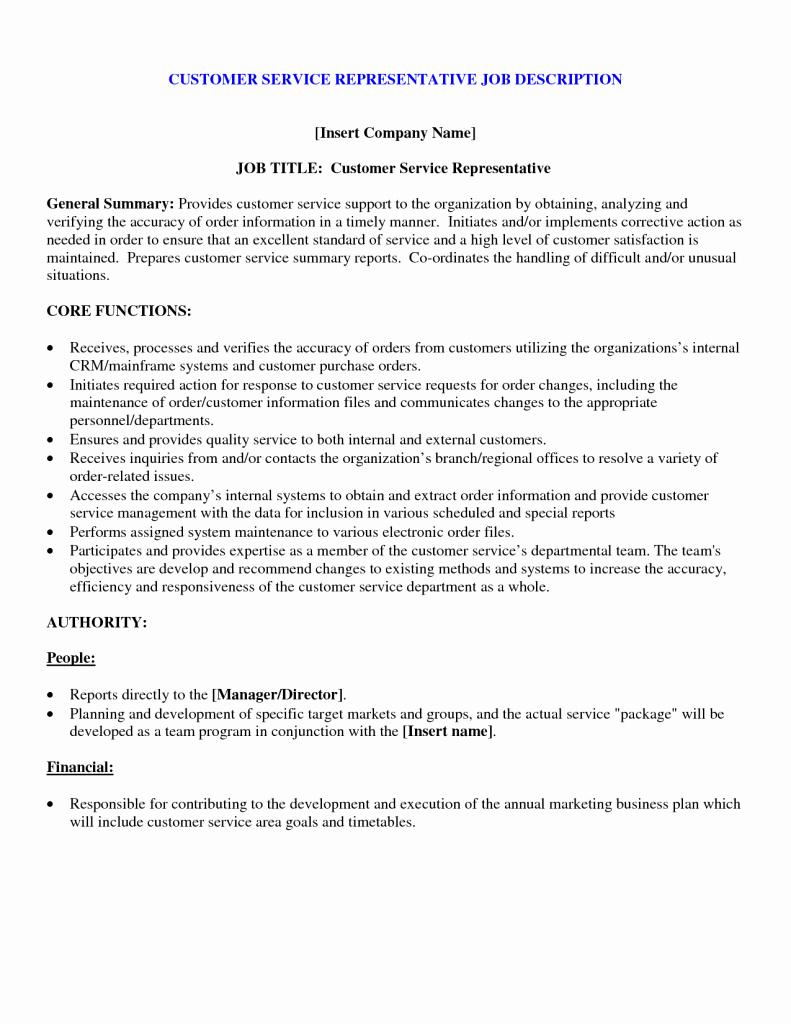 Customer Service Resumme Job Duties – Perfect Resume format