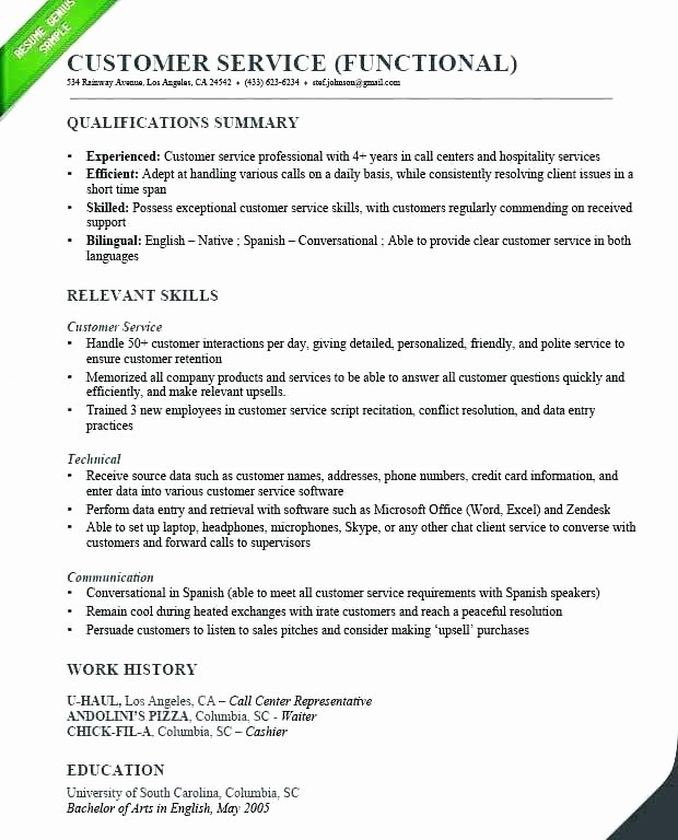 customer service skills qualifications resume