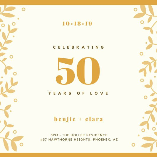 Customize 1 796 50th Anniversary Invitation Templates