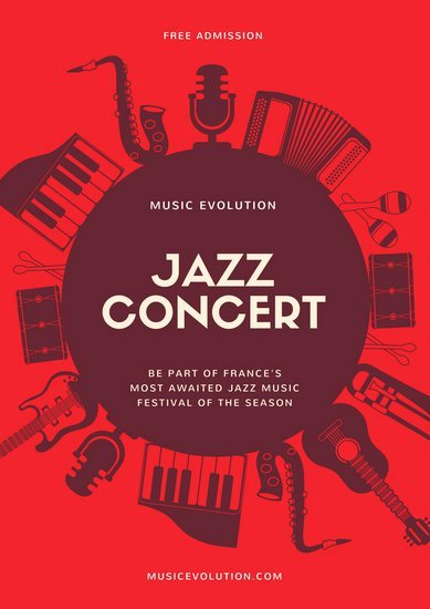 Customize 109 Jazz Poster Templates Online Canva