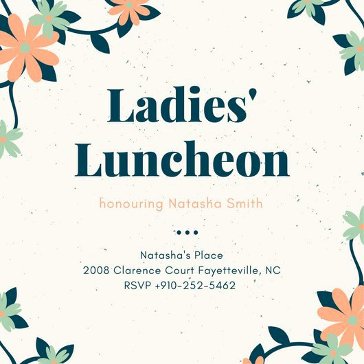 Customize 114 Luncheon Invitation Templates Online Canva