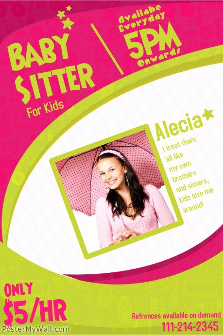 Customize 210 Babysitting Flyer Templates