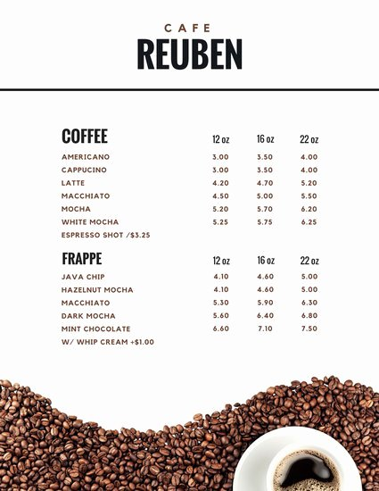 Customize 283 Coffee Shop Menu Templates Online Canva