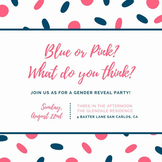Customize 29 Gender Reveal Invitation Templates Online