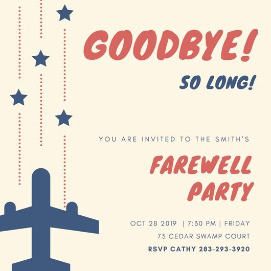 Customize 3 999 Farewell Party Invitation Templates