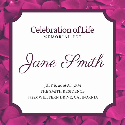 Customize 40 Funeral Invitation Templates Online Canva