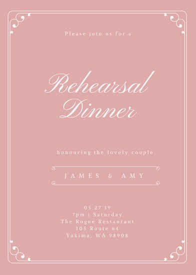 Customize 411 Rehearsal Dinner Invitation Templates