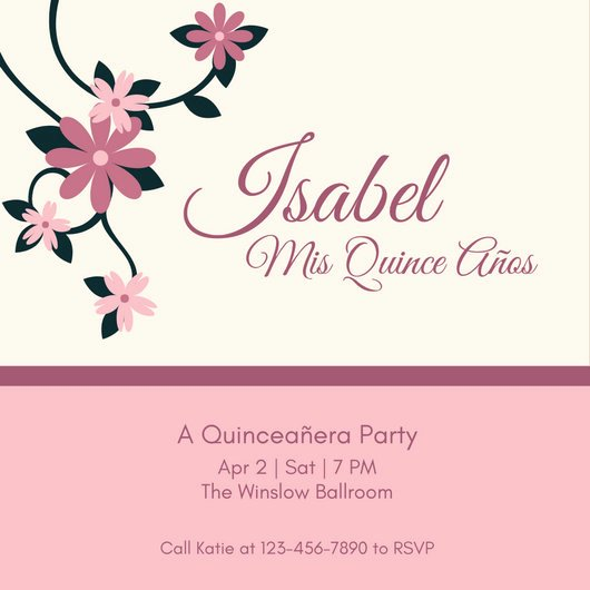 Customize 45 Quinceanera Invitation Templates Online Canva