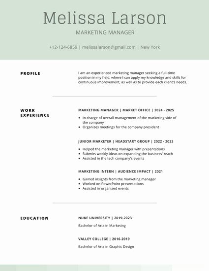 Customize 505 Simple Resume Templates Online Canva