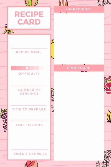 Customize 9 482 Recipe Card Templates Online Canva