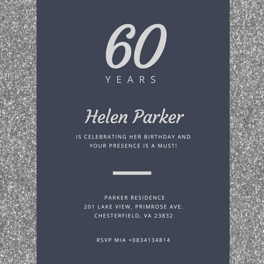 Customize 986 60th Birthday Invitation Templates Online