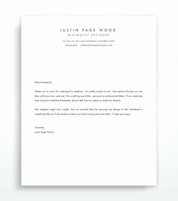 Customize Personal Letterhead Templates Line Regarding