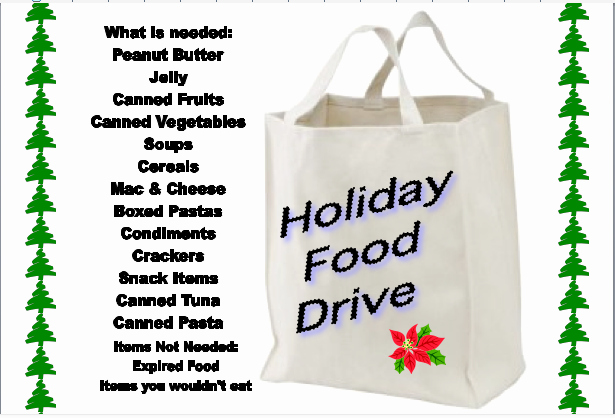 Customize This Flyer for Your Group S Holiday Food Drive