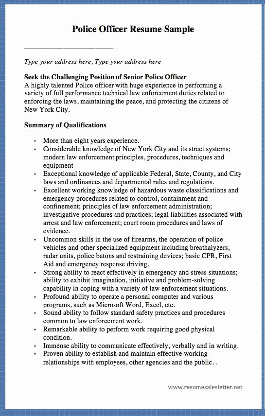 Customs Border Protection Officer Resume