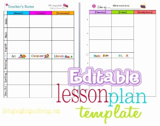 Cute Lesson Plan Template… Free Editable Download