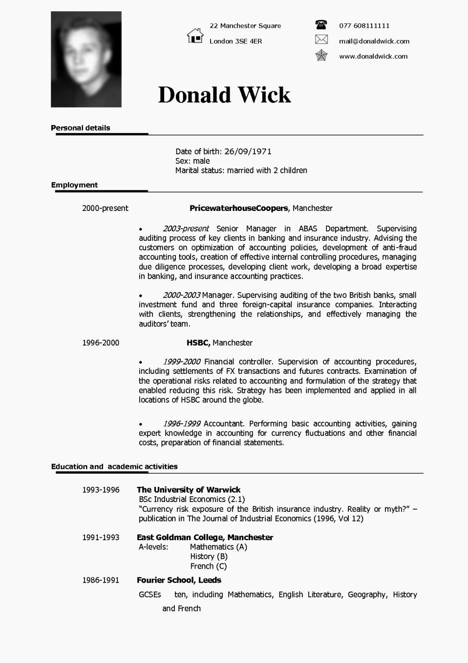 Cv Cover Letter Example Uk Resume Template