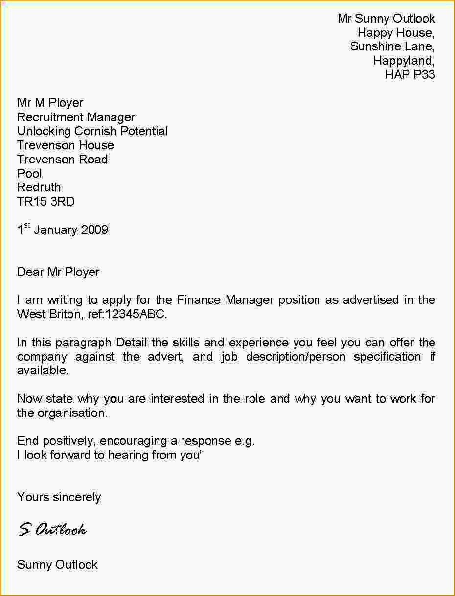 Cv Cover Letter Example Uk Resume Template