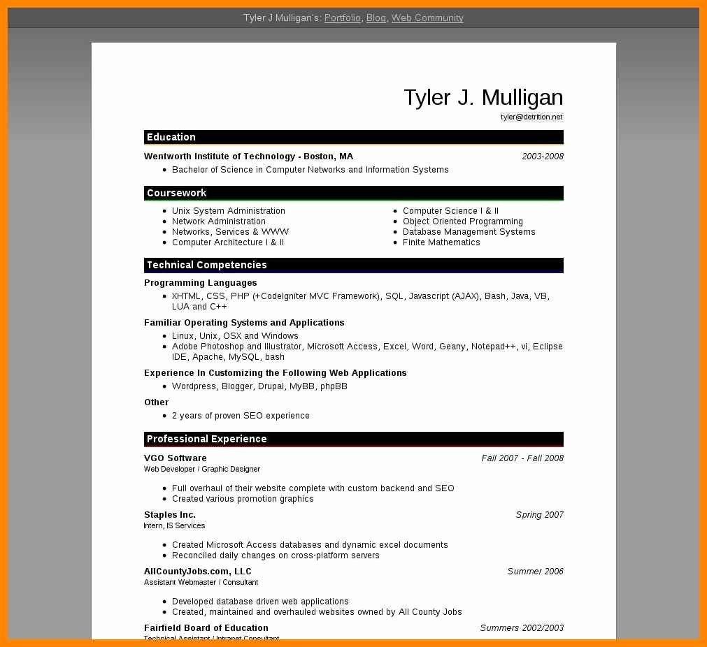 Cv format In Ms Word 2007 Free Downloadnd Resume